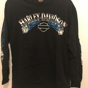 Harley-Davidson Tops - Vintage Long Sleeve Harley Davidson Tee